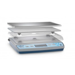 dlund BRAVO BRV-480 Stainless Steel 30lb Digital Scales with Clearshield Cover