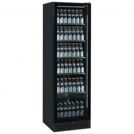Tefcold SCU1425 FRAMELESS Black Bottle Merchandiser with Double LED Lighting