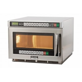 Sharp R1900M Extra Heavy Duty Microwave with 100 Memory Settings