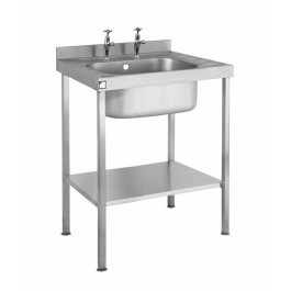 Parry SINK0860SBND Single Bowl Sink without Drainer 600mm Wide