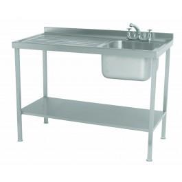 Parry SINK1270L Single Bowl & Single Left-Hand Drainer Sink