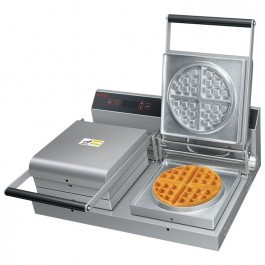 --- HATCO SNACK-2 --- Double Waffle Maker with Interchangeable Plates