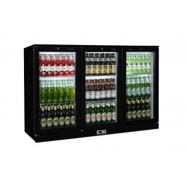 --- STERLING PRO SP3HC-BH -- Black Triple Hinged Door Green Range Bottle Cooler