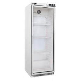 Sterling Pro Cobus SPF400G Single White Glass Door Upright Freezer - 360 litres