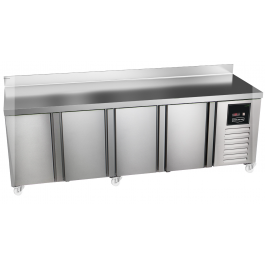 Sterling Pro Green SPI-7-225-40 Four Door Refrigerated Counter with upstand - 615 litres