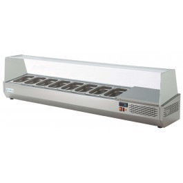 --- STERLING PRO SPMI-135 --- Glass Canopy with 5 x 1/4 GN Refrigerated Topping Well