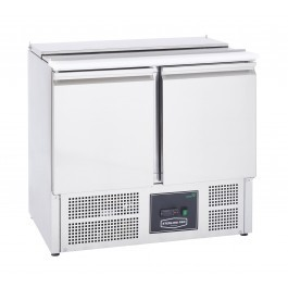 Sterling Pro Cobus SPU200SL Two Door Saladette with Hinged Lid - 240 litres