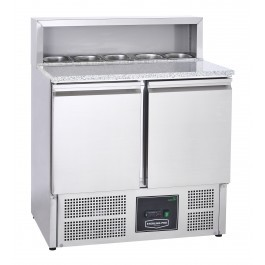 Sterling Pro Cobus SPU902PZ Two Door Pizza Counter with Granite Top