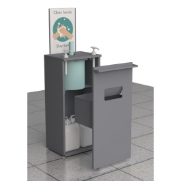 --- PRINCE CASTLE SS-FSU-2 --- Hand Sanitiser Station with Twin Pump and Paper Towel Dispenser