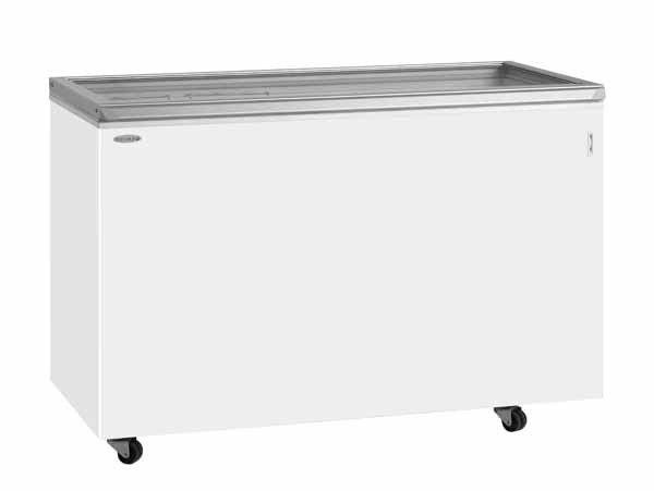 Tefcold ST500P White Chest Freezer with Hinged Glass Lid