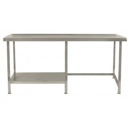 Parry TABHL10600 Stainless Steel Table with Left Half Undershelf - D600mm