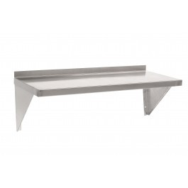 Parry SHELFM6x6 Stainless Steel Microwave Wall Shelf - D600m