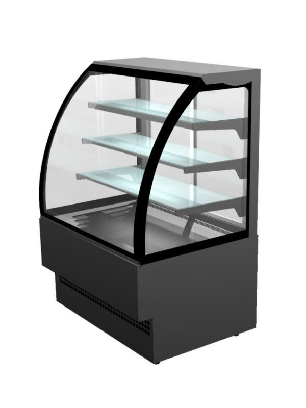 --- STERLING PRO EVO120-BLACK --- Curved Glass Patisserie Counter