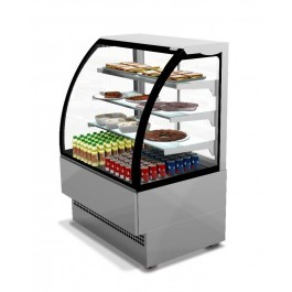 --- STERLING PRO EVO120SS --- Stainless Steel Curved Glass Patisserie Counter