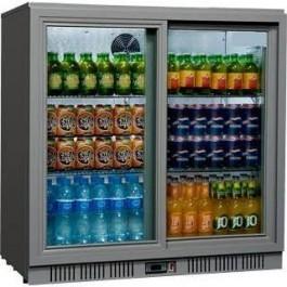 --- STERLING PRO SP2BC-GS --- Grey Double Sliding Door Bottle Cooler