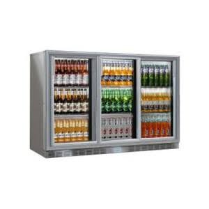 --- STERLING PRO SP3HC-GS --- Grey Triple Sliding Door Green Range Bottle Cooler
