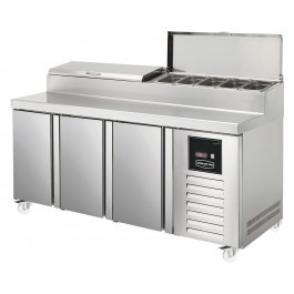 Sterling Pro SPIZ-180 Three Door Refrigerated Prep Counter - SPPZ-180-CIR