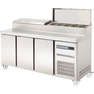 Sterling Pro SPPZ-180-CIR Three Door Pizza Prep Counter