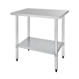 Vogue T376 Stainless Steel Prep Table with Galvanised Under Shelf - 1200mm