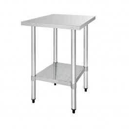 Vogue T389 Stainless Steel Prep Table with Galvanised Under Shelf - 600mm