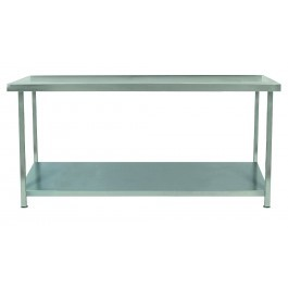 Parry TAB05600 Stainless Steel Table with One Undershelf - D600mm