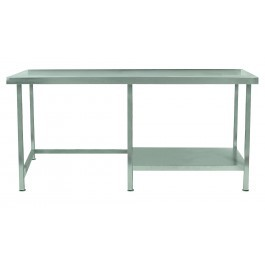 Parry TABHR10600 Stainless Steel Table with Right Half Undershelf - D600mm