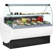 Trimco TAVIRA II 100 White Slimline Serve Over Counter with Curved Glass