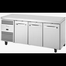 True TCR1/3-CL-SS-DL-DR-DR Three Door Counter GN 1/1 Refrigerator