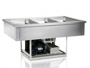 Tefcold CW3V Stainless Steel Drop In Buffet Display
