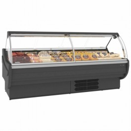 Tefcold Elara E250C Curved Glass Serve Over Counter with Refrigerated Under Storage