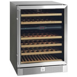 Tefcold TFW160-2S Black-SS Glass Door Wine Cooler with Charcoal Filter
