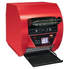 Hatco TQ3-500-WRED Red Toast-Qwik Conveyor Toaster with Touchscreen