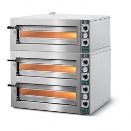 Cuppone LLKTZ6203S Tiziano Triple Deck Electric Slimline Pizza Oven