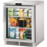 True TUC-24G-HC~FGD01 Glass Hinged Door Under Counter Fridge