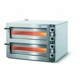Cuppone LLKTZ6202S Tiziano Twin Deck Electric Slimline Pizza Oven