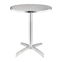 Bolero U423 Aluminium & Stainless Steel Flip Top Round Bistro Table - 600mm