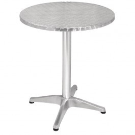 Bolero U426 Aluminium & Stainless Steel Round Bistro Table - 600mm