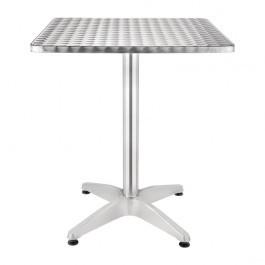Bolero CG834 Aluminium & Stainless Steel Square Bistro Table - 700mm