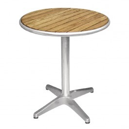Bolero U428 Aluminium Base & Ash Top Round Table - 600mm