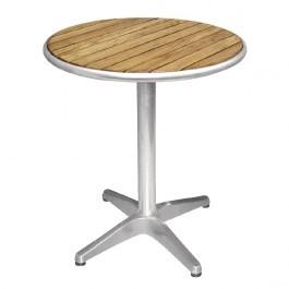 Bolero U429 Aluminium Base & Ash Top Round Table - 800mm