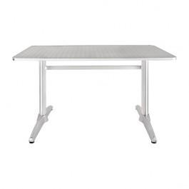 Bolero U432 Aluminium & Stainless Steel Double Pedestal Table Rectangular - 1200mm