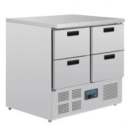 Polar U638 G-Series Four Drawer GN 1/1 Counter Fridge - 240 Litres