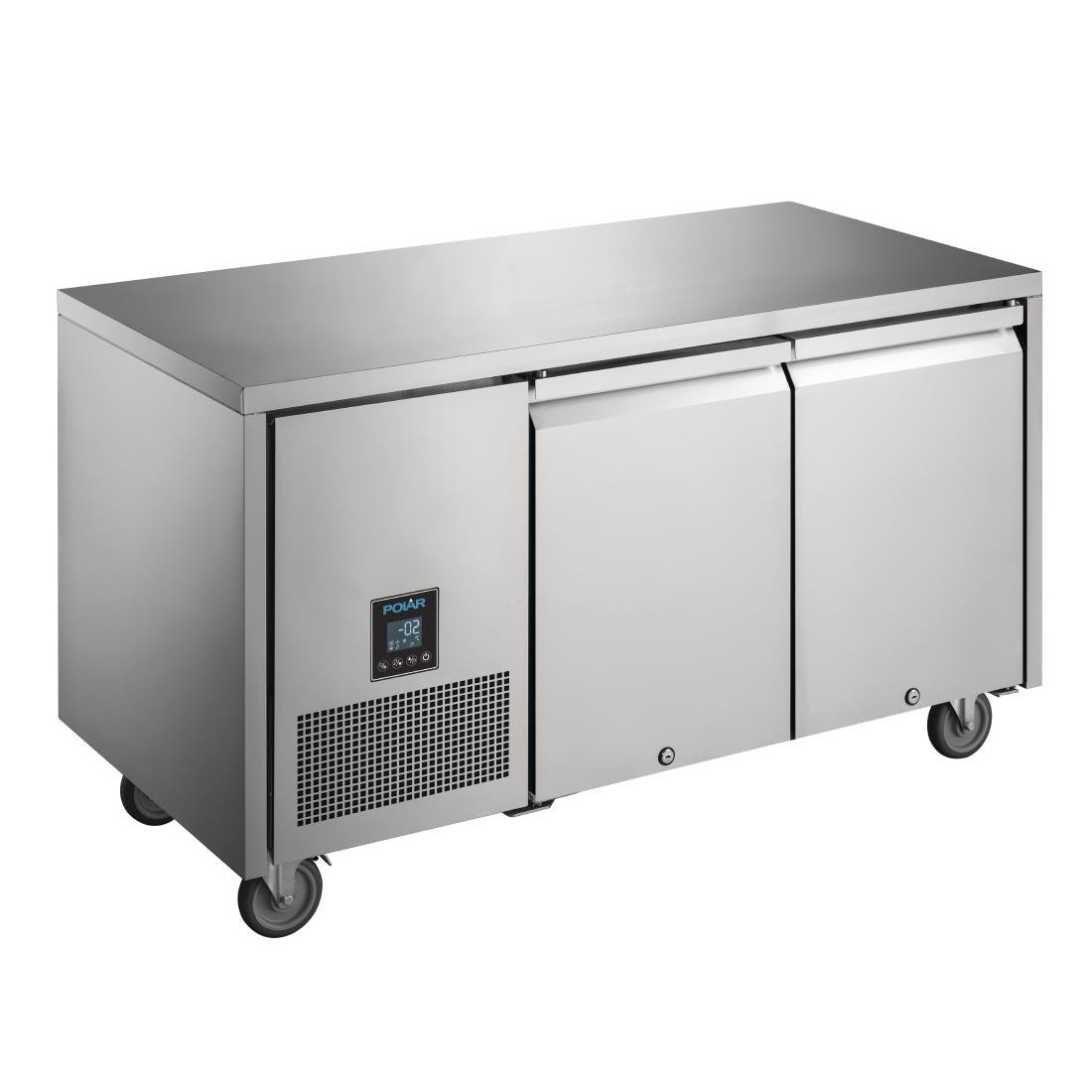 Polar UA005 U-Series Premium Double Door Counter Fridge
