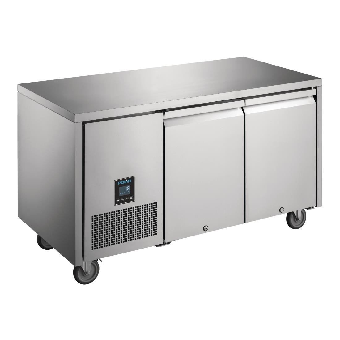 Polar UA006 U-Series Premium Double Door Counter Freezer