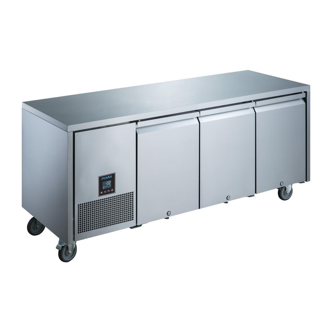 Polar UA007 U-Series Premium Triple Door Counter Fridge