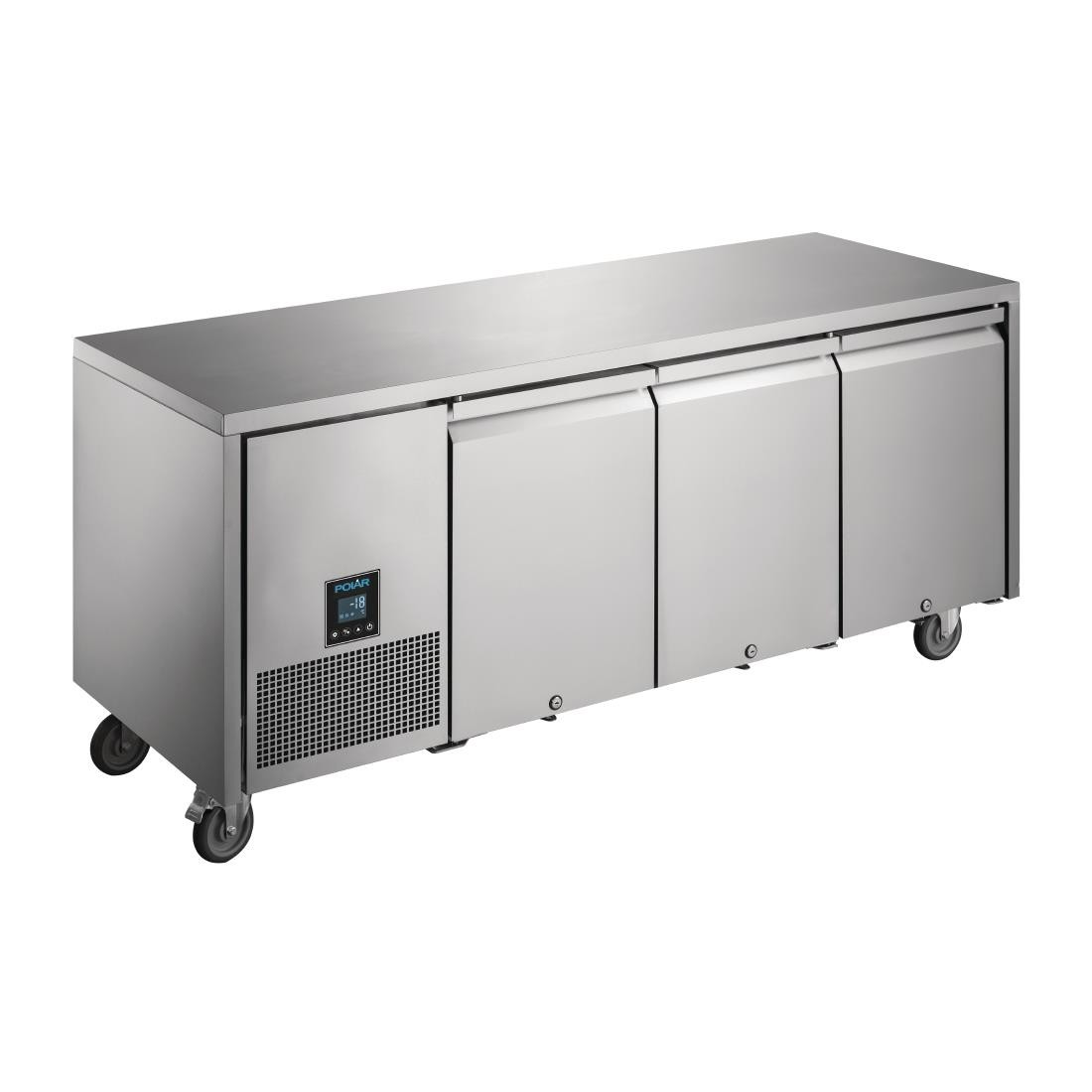Polar UA008 U-Series Premium Triple Door Counter Freezer