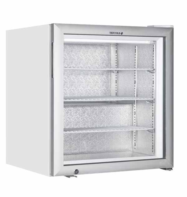 Tefcold UF100G Glass Door White Display Freezer