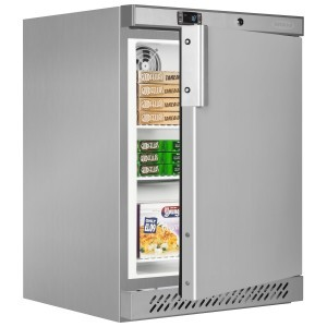 Tefcold UF200VSP Stainless Steel Undercounter Freezer with Fan Assisted Cooling