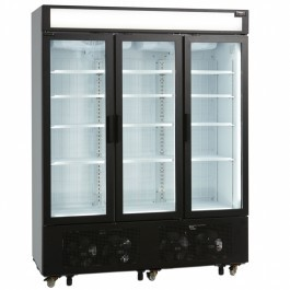 Tefcold UFSC1600GCP Fan Assisted Triple Glass Door Upright Display Freezer