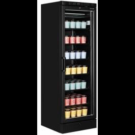 Tefcold UFSC370G Black Glass Door Upright Display Freezer With Heated Door